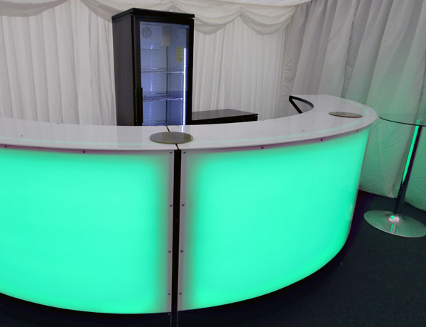 Curved Bar hire in Essex