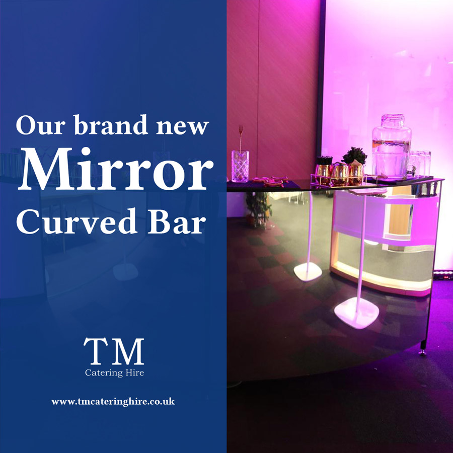 Curved Mirror Bar For Hire