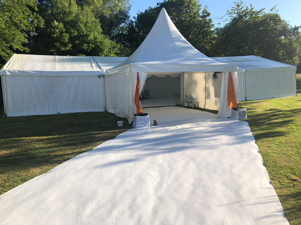 Ibiza themed marquee hire